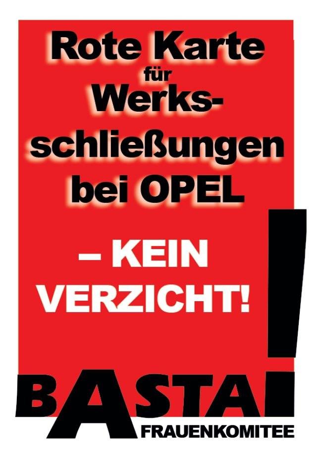 Opelaner-Frauen und -Familien engagiert im Kampf um jeden Arbeitsplatz