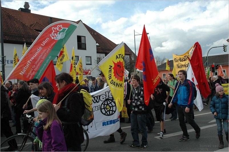 Fotostrecke zur Anti-AKW-Demo in Günzburg