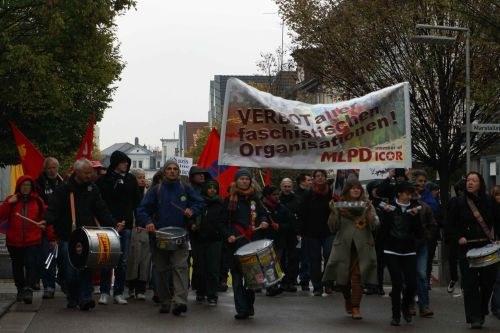 Göppingen: Antifaschistischer Protest trotz Polizeikessel und Kriminalisierung