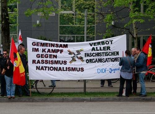 Protest gegen faschistische Provokationen
