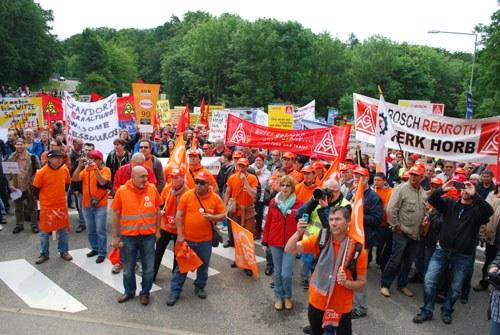 """Bosch-Aktionstag: """"Arnstadt und Venisseux - wir kämpfen den gleichen Kampf"""""""