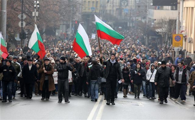 Bulgarien: Hunderttausende sind auf den Straßen