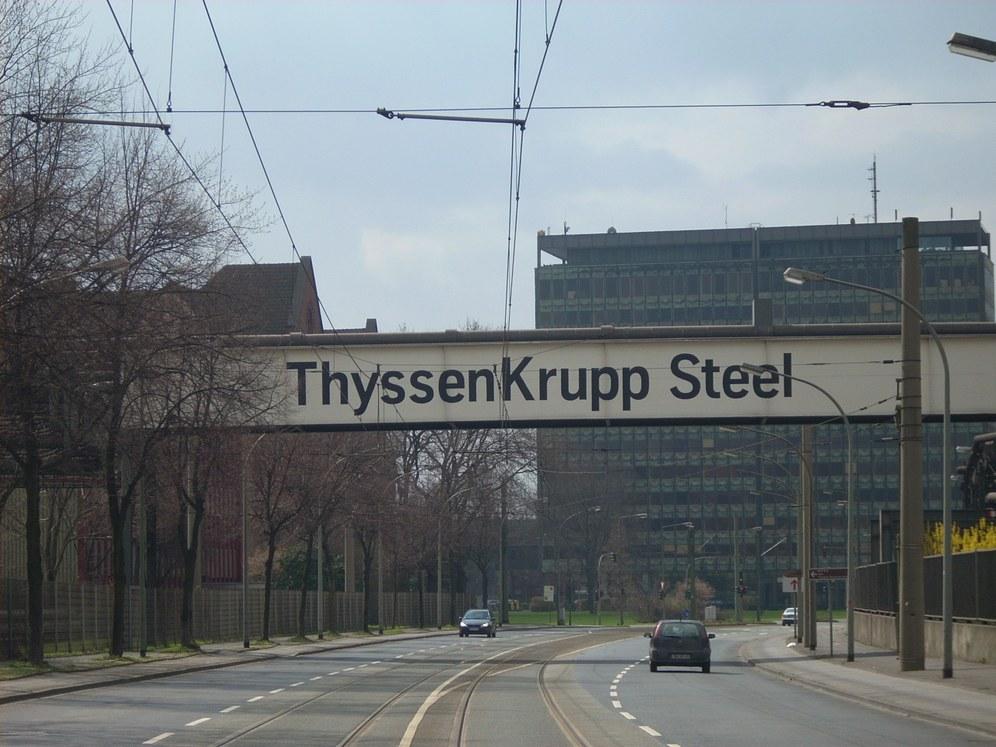 Streik bei TKSE Duisburg Süd gegen die Entlassung von Leiharbeitern
