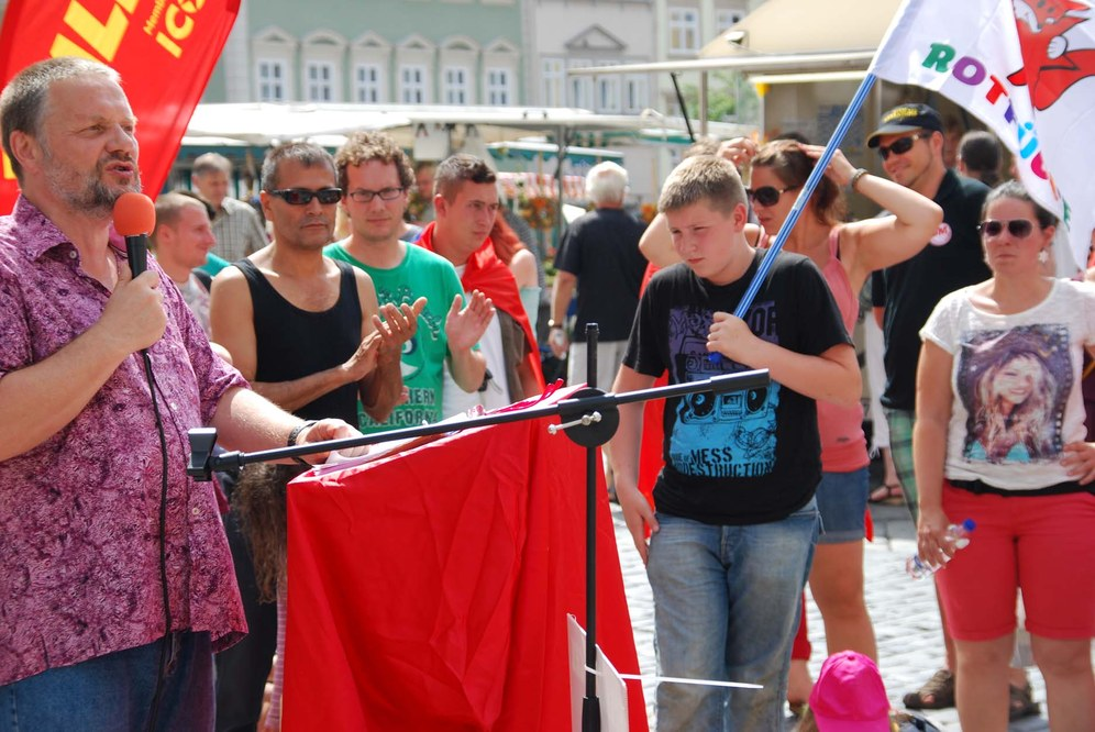 Stefan Engel eröffnet MLPD-Wahlkampf in Bayern