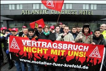 Streik bei Outokumpu - direkt nach der Wahl verschärfte Abwälzung der Krisenlasten - Stahlarbeiter, Opelaner und Bergleute gemeinsam!