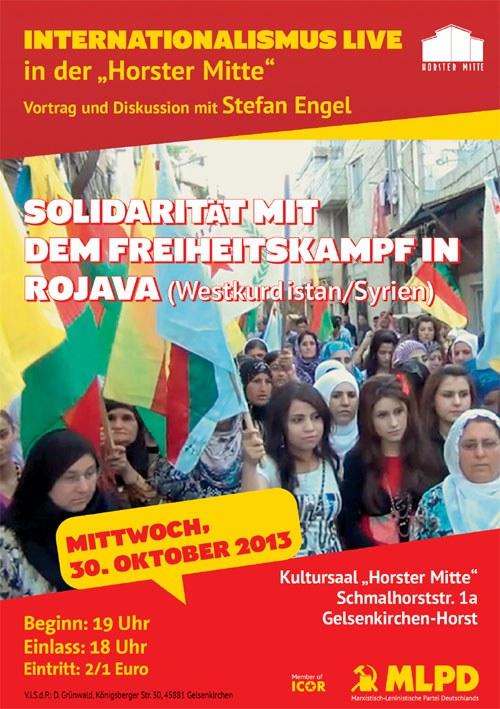 """""""Internationalismus Live"""": Solidarität mit dem Freiheitskampf in Rojava"""