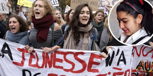 Sturm des Protests hat Frankreichs Jugend ergriffen