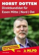 Solidarität mit Horst Dotten, Bundestagskandidat der MLPD - Prozess am 4. November