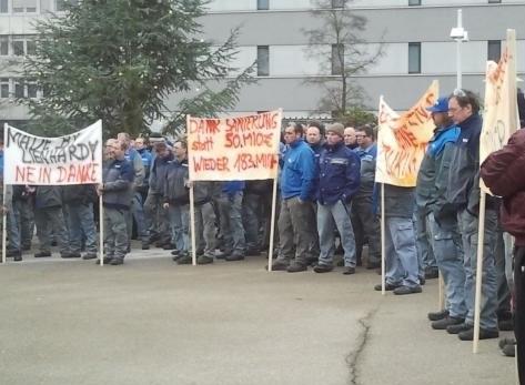 Vierte selbständige Streikaktion bei Voith Paper in Heidenheim