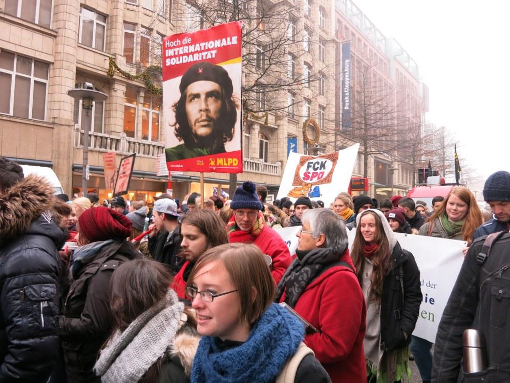 Schülerdemo gegen die Abschiebepolitik in Hamburg