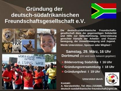 Deutsch-Südafrikanische Freundschaftsgesellschaft bereitet Gründung vor