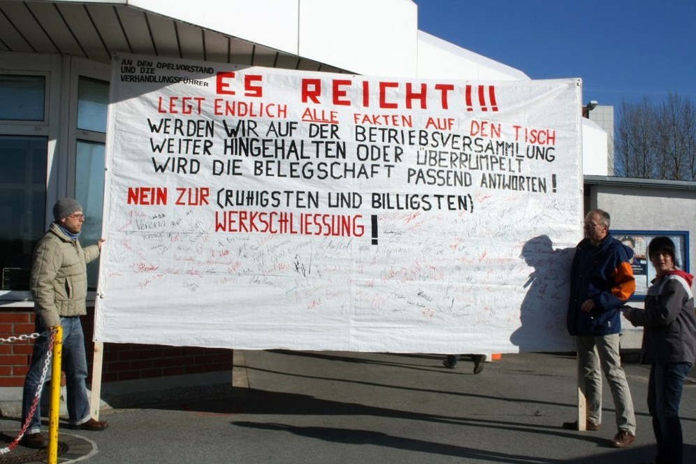 Opel Bochum: Protestkundgebung am Montag um 11.55 Uhr