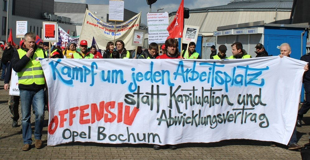 Opel Bochum: Beeindruckender Kampftag der Belegschaft