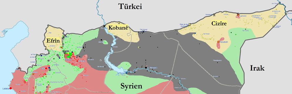 Seit Tagen wieder Angriffe der Islamisten auf Rojava (Nordsyrien)