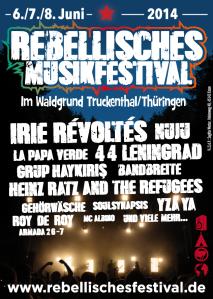 Sichere dir jetzt dein Ticket für das Rebellische Musikfestival 2014!