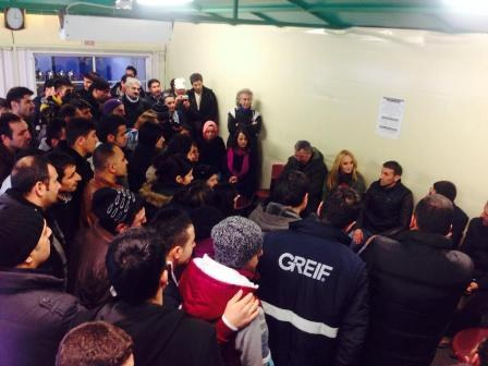 Türkei: Greif-Arbeiter setzen ihre Fabrik-Besetzung weiter fort