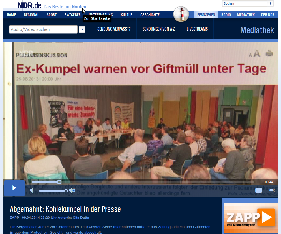 "NDR-Magazin ""ZAPP"" berichtet über Christian Link"