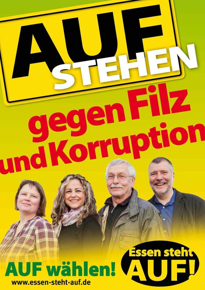 """""""Essen steht AUF"""" plakatierte zum Kommunalwahlkampf in Eigenregie"""