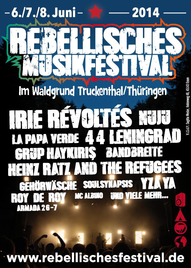 Vorbereitung des Rebellischen Musikfestivals läuft auf Hochtouren!