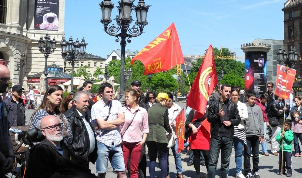 Frankfurt: Solidaritätsaktion mit den Bergleuten von Soma (Türkei)
