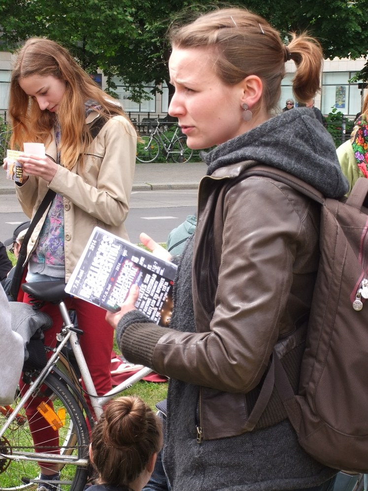 """Lisa Gärtner bei """"Blockupy"""""""