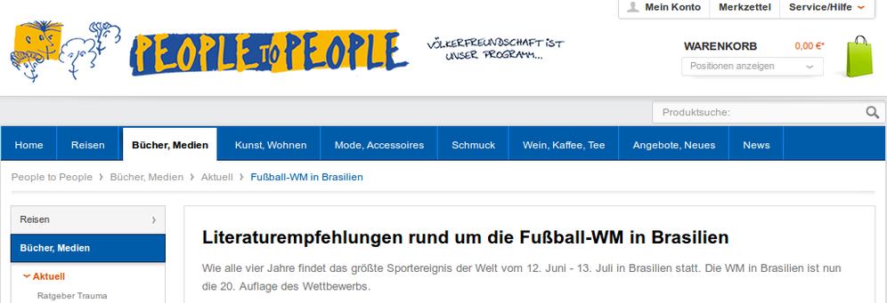 Buchtipps von People to People zur Fußball-WM 2014