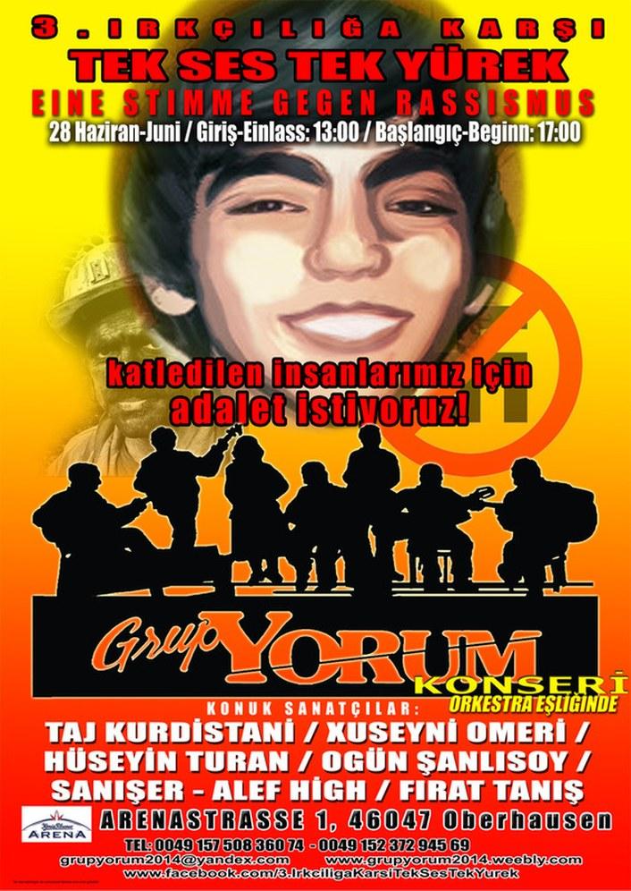 """""""Grup Yorum"""" spielt am 28. Juni in Oberhausen"""