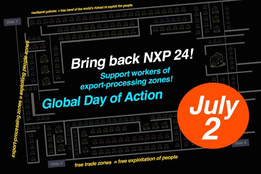 Philippinen: Aktionstag am 2. Juli für Wiedereinstellung von 24 Gewerkschaftsführern