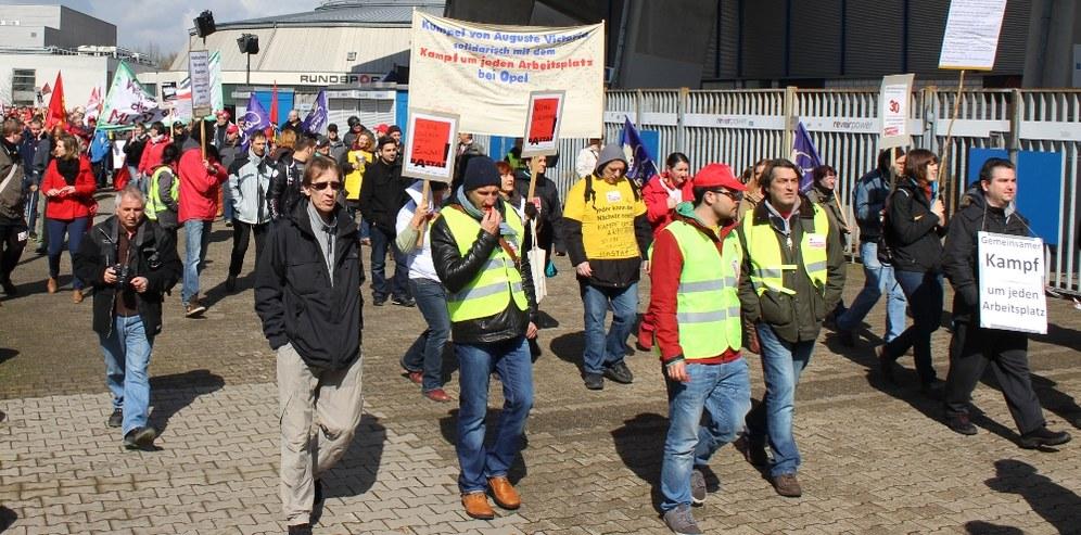 Spendet für die Prozesskosten von kämpferischen Opel-Kollegen