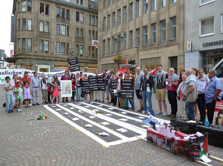 Montagsdemos: Volle Solidarität mit dem Volkswiderstand der Palästinenser