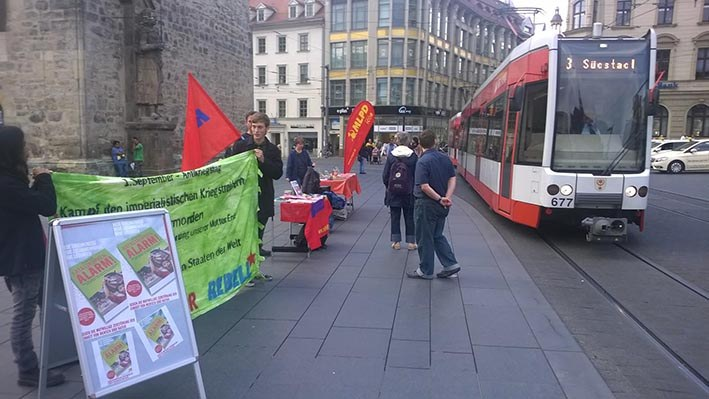 """Halle: """"Im Mittelpunkt stand der Kampf gegen Faschismus und imperialistischen Krieg"""""""