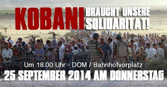 24.09.14 - Kobanê: Morgen Kundgebung in Köln