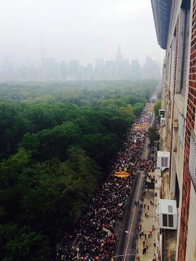 """Millionen Menschen beim """"größten Klimamarsch der Geschichte"""""""