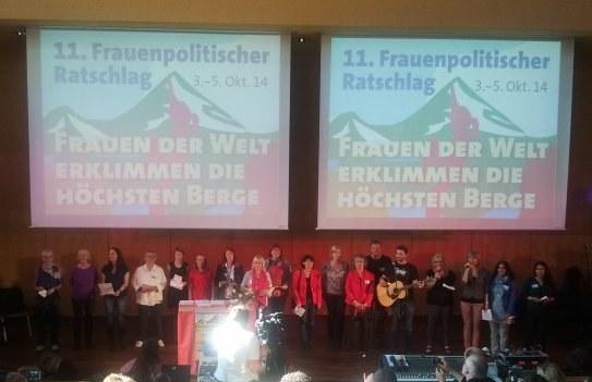 Frauenpolitischer Ratschlag 2014 im großen Hörsaal der Technischen Uni Chemnitz eröffnet