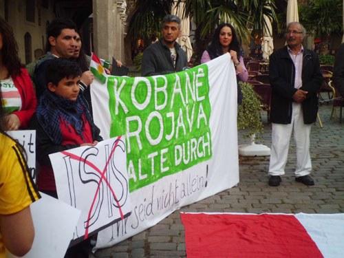 In vielen Städten Solidaritätsaktionen mit dem Widerstand des kurdischen Volks in Rojava