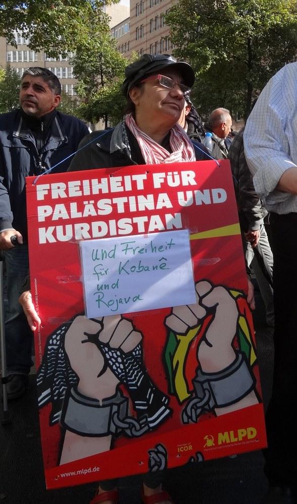 MLPD unterstützt bundesweite Solidaritätsdemonstration mit Kobanê