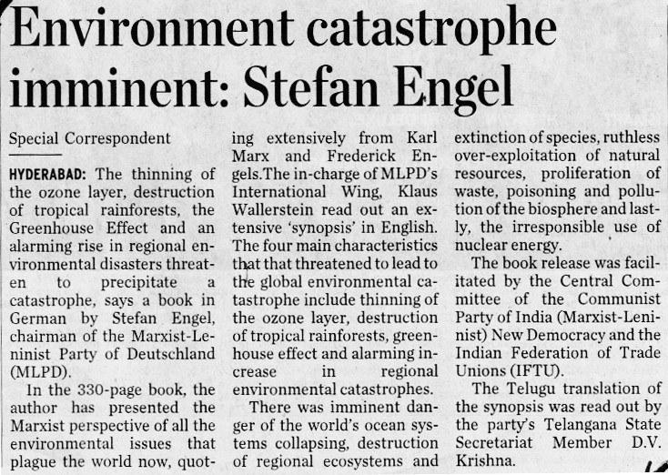 """""""The Hindu"""" stellt """"Katastrophenalarm!"""" vor"""