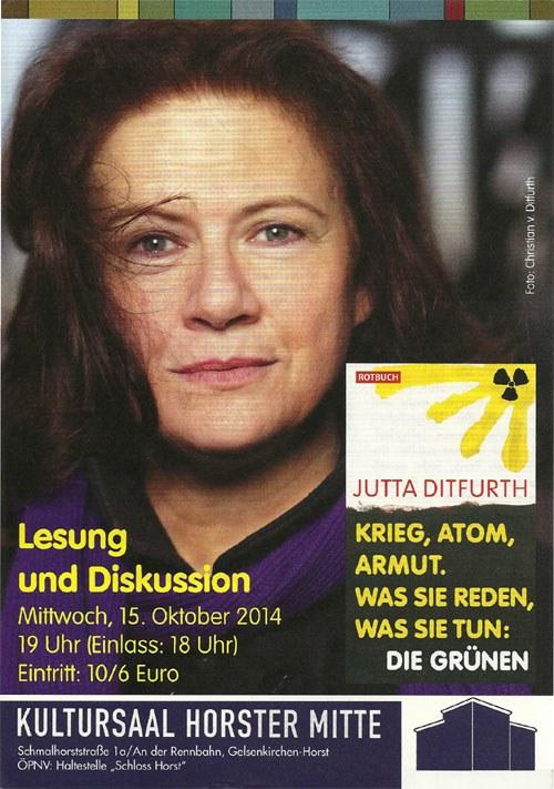 Lesung und Diskussion mit Jutta Ditfurth in Gelsenkirchen