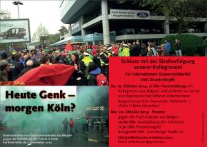 Prozess gegen belgische Ford-Arbeiter am 20. Oktober