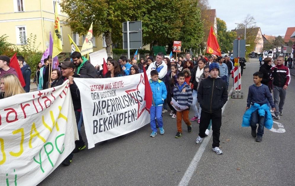 Dritte Solidaritätsdemonstration mit Kobanê in Villingen-Schwenningen