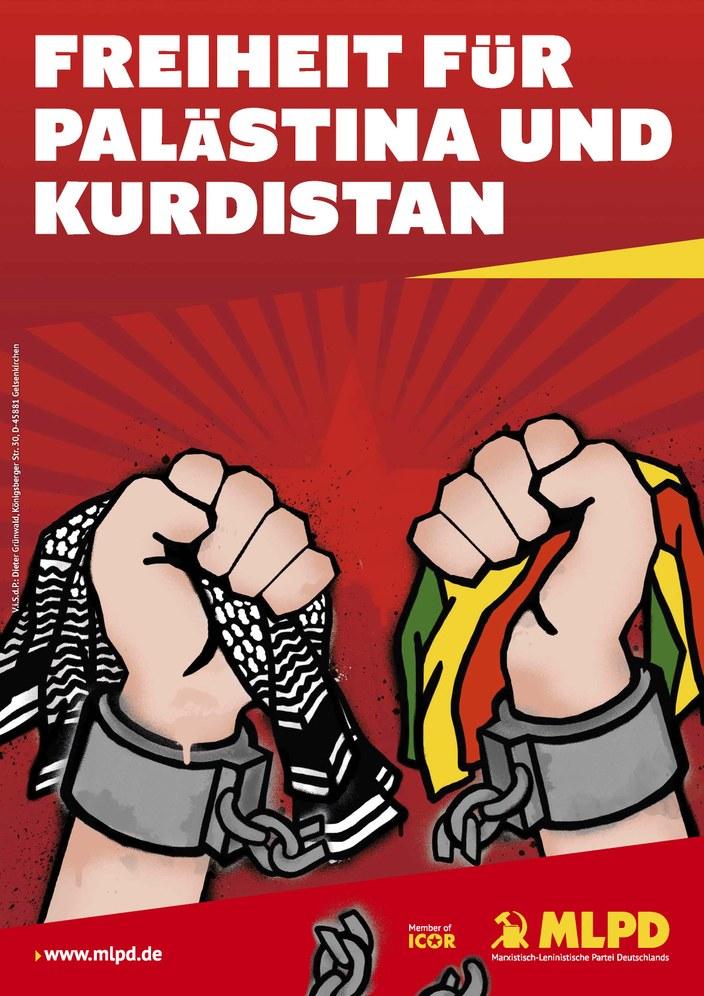 """Aufkleber """"Freiheit für Kurdistan"""" und """"Hoch die internationale Solidarität"""" sind da"""