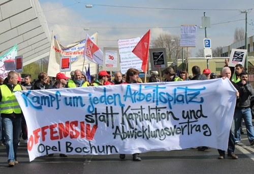 Opel Bochum: 50 Minuten Arbeitsniederlegung in der Fertigmontage