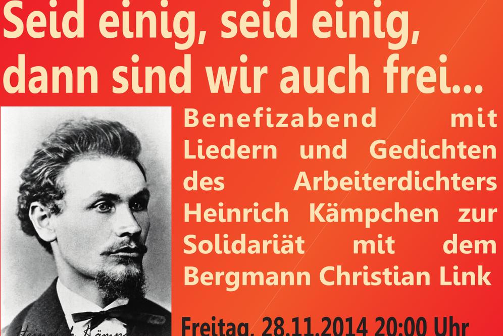 """""""Kumpel für AUF"""": Benefizabend mit Bergarbeiterkultur für Christian Link"""