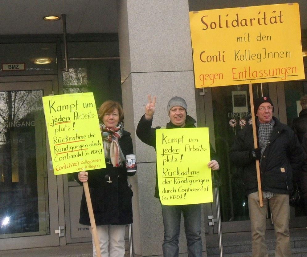 """Conti-Solikreis: """"Voller Erfolg vor dem Arbeitsgericht!"""""""