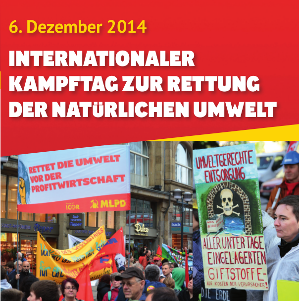 Flyer zum Internationalen Umweltkampftag am 6. Dezember