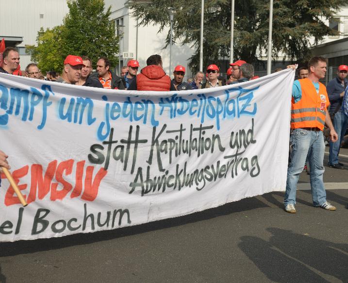 """Opel Bochum: """"Wir ziehen den Hut vor eurem ungebrochenen Kampfeswillen"""""""
