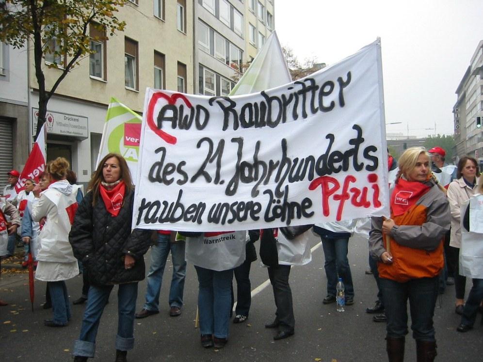 AWO: Streiks in Nordrhein-Westfalen