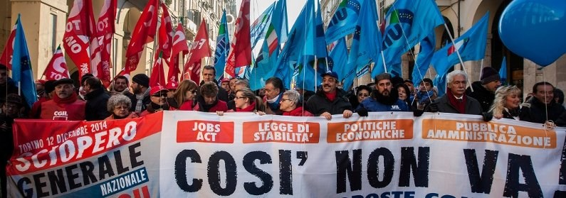 """Così non va!"" (""So nicht!"") - Machtvoller Generalstreik in Italien"
