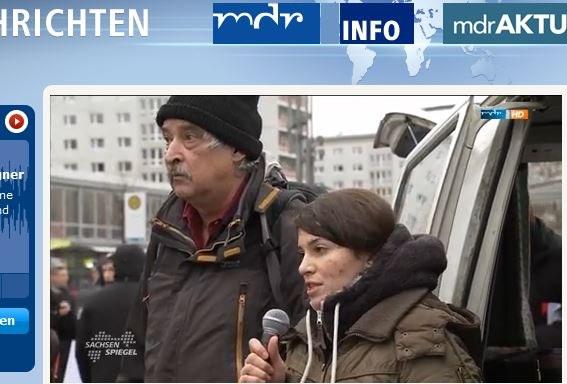 Flüchtlinge und Anwohner aktiv gegen braunen Terror und scheinheilige Politik