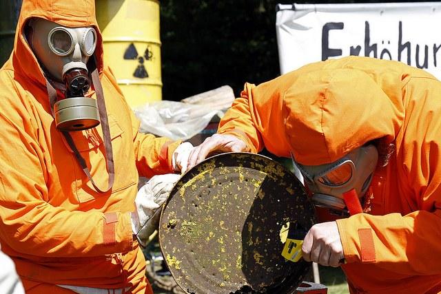 Unverantwortliche Lagerung von Atommüll